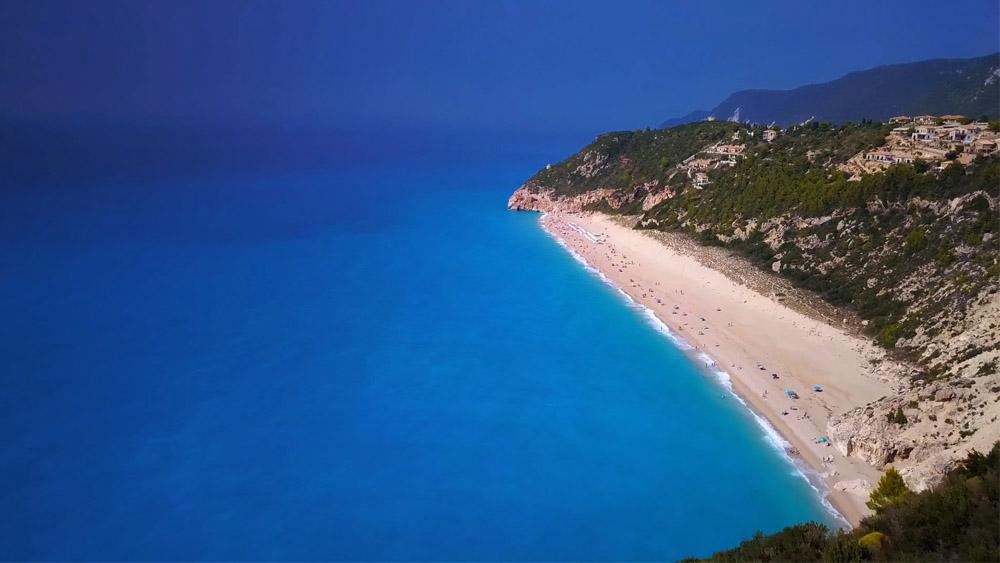 Milos Beach Lefkada Lefkas Boat